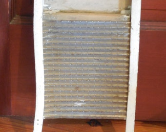 SALE  Antique Small Wooden and Metal Washboard Primitive Country