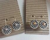 Silver Zipper Post Earrings