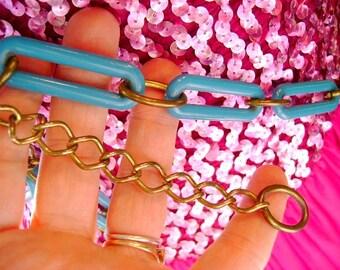 60s vintage belt MOD lucite plastic chain accessories gift costume hippy hip