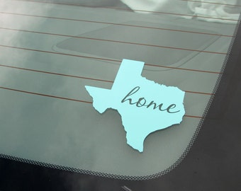 Personalized State Decals with your Choice of Fonts