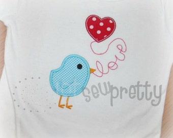 Tweet Love Embroidery Applique Design