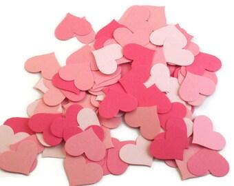 Funfetti Paper Confetti  Die Cut  Hearts in Pink Pop Quantity 300