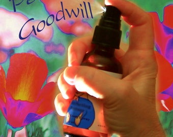 Peace, Goodwill, Releasing Negativity, Spiritual, Body, Aura and Room Spray, Organic Reiki-Infused Flower Essence Aromatherapy, Spa