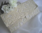 Lace Hanky Keeper For Keepsake Items Wedding Handmade Vintage Lace Clutch Handmade by handcraftusa