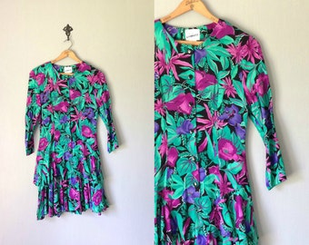 Items Similar To Jungle Fever Vintage Floral Print Skirt