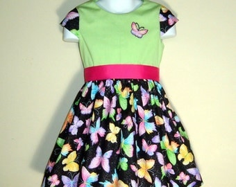 Toddler Butterfly Dress - size 3T