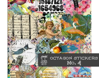 Octagon Stickers No. 4