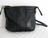 Lisette thick soft genuine leather m size  satchel tote  cross body bag  vintage 80s