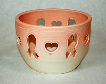 SALE Pink Ribbon Breast Cancer Candle Holder Luminary
