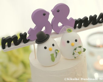 love birds  Wedding Cake Topper (K353)