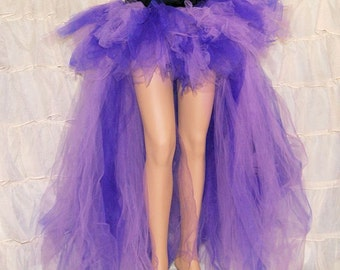 Purple Lavender High Low Trashy Formal Bustle TuTu Adult Medium MTCoffinz - Ready to Ship