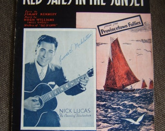 Red Sails in the Sunset - 1935 Sheet Music