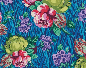 Cotton Quilting Fabric | Amy Butler fabric | Hapi Tapestry Rose Sapphire