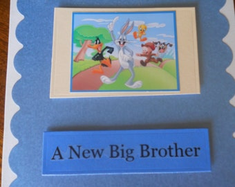 new big brother card/ new baby, brother card/ special big brother card/new baby card