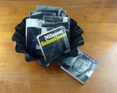 NILSSON SCHMILSSON recycled Nilsson album cover coasters and wacky basket