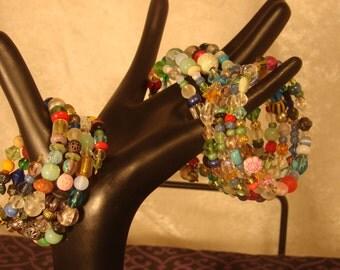 Random colorful Memory Wire Bracelet