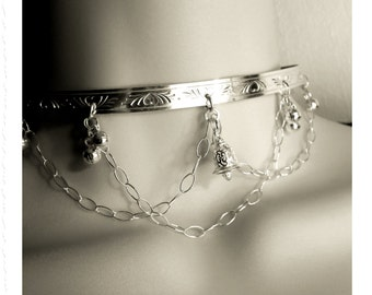 Made To Order With Bells On Sterling Silver Discreet Public Day Wear Choker Style Collar Lockable