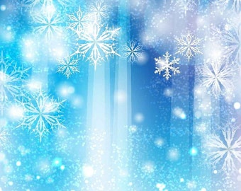Nice Snowflake 10ft x 10ft Backdrop Computer Printed Photography Background XLX-626