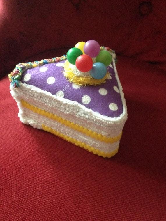 Faux Fake Cake Slice Triangle Box For Centerpiece Birthday