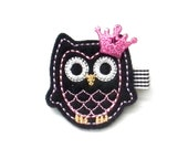Give A Hoot Felt Owl Child Hair Clip, Child Hair Clip, Boutique Clip, Owl, Right Side, Etsy Kids