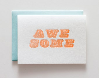 Awesome Block - Letterpress Congratulations Card - CC056