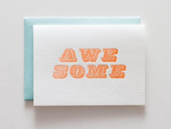 Awesome Block - Letterpress Congratulations Card - CC056