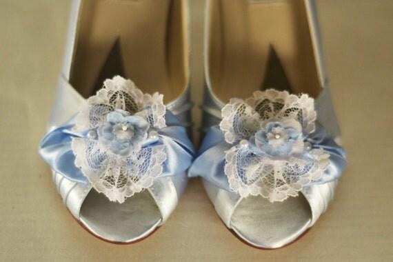 Special Size 7.5 - Marie Antoinette Blue Tea Party Shoes