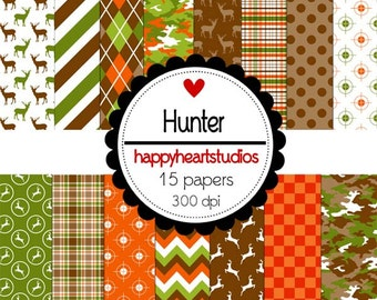Digital Scrapbooking Hunter-INSTANT DOWNLOAD