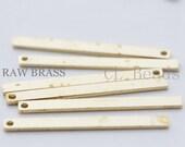 40pcs Raw Brass Bar -  27x2mm (1755C-T-154)