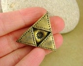 Hero Of Time Industrial Inspired Legend Of Zelda Triforce Pin / Brooch