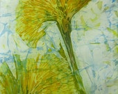 "Silk Batik Wall Hanging ""The Dandelion"""