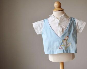 1950s Top Duck Shirt~Size 6 Months