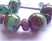 Handmade Lampwork Glass Bead Set SRA UK   Moments