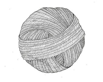 Ball of Possibilities, print, illustration, pen and ink