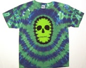 Tie Dye Skull Shirt, Zombie Tie Dye T Shirt, Youth XL