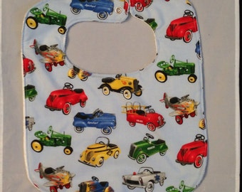 Baby bib Classics Cars Ready  to Ship More Coverage 13 X 12.5 inches each