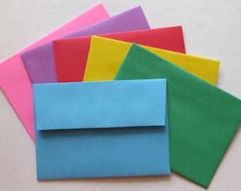 PE26 Qty. 25 Colored RSVP Response Envelopes A1 60 lb. Square Flap 5 1/8 x 3 5/8 (13.02cm x 9.21cm)