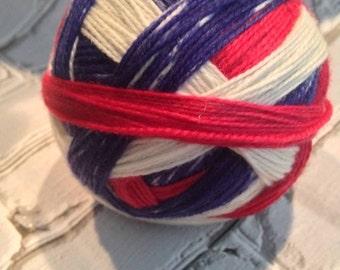 Grand old flag self striping sock yarn
