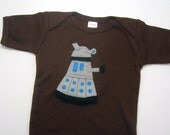 Dr. Who Dalek One Piece in 3-6 Months in Chocolate Brown