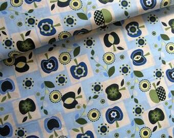 Cotton Fabric • Apple meadow • light-blue  • Cotton Fabric 0.54yd (0,5m) 001571