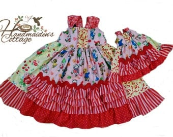 Picnic Petticoats pattern, sizes 2T through size 10 plus Dolly Pattern