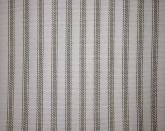 SAMPLES Ticking Stripe & Gingham Duvet and Bedding Fabric Samples - 3 swatches per listing