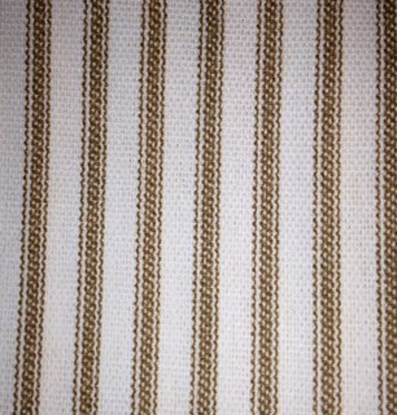Ticking Shower Curtain With Ruffles And Matching Window