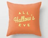 Halloween Home Decor Autumn and Seasonal Decorative Throw Pillow Cover Throw Pillow Cover Orange Pillow Cushion Cover