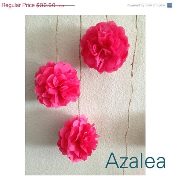 Items Similar To DIY Azalea Pink Tissue Paper Flower Wedding Garland Kit Photography Prop