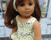 Confetti - Peplum top and mini skirt for American Girl