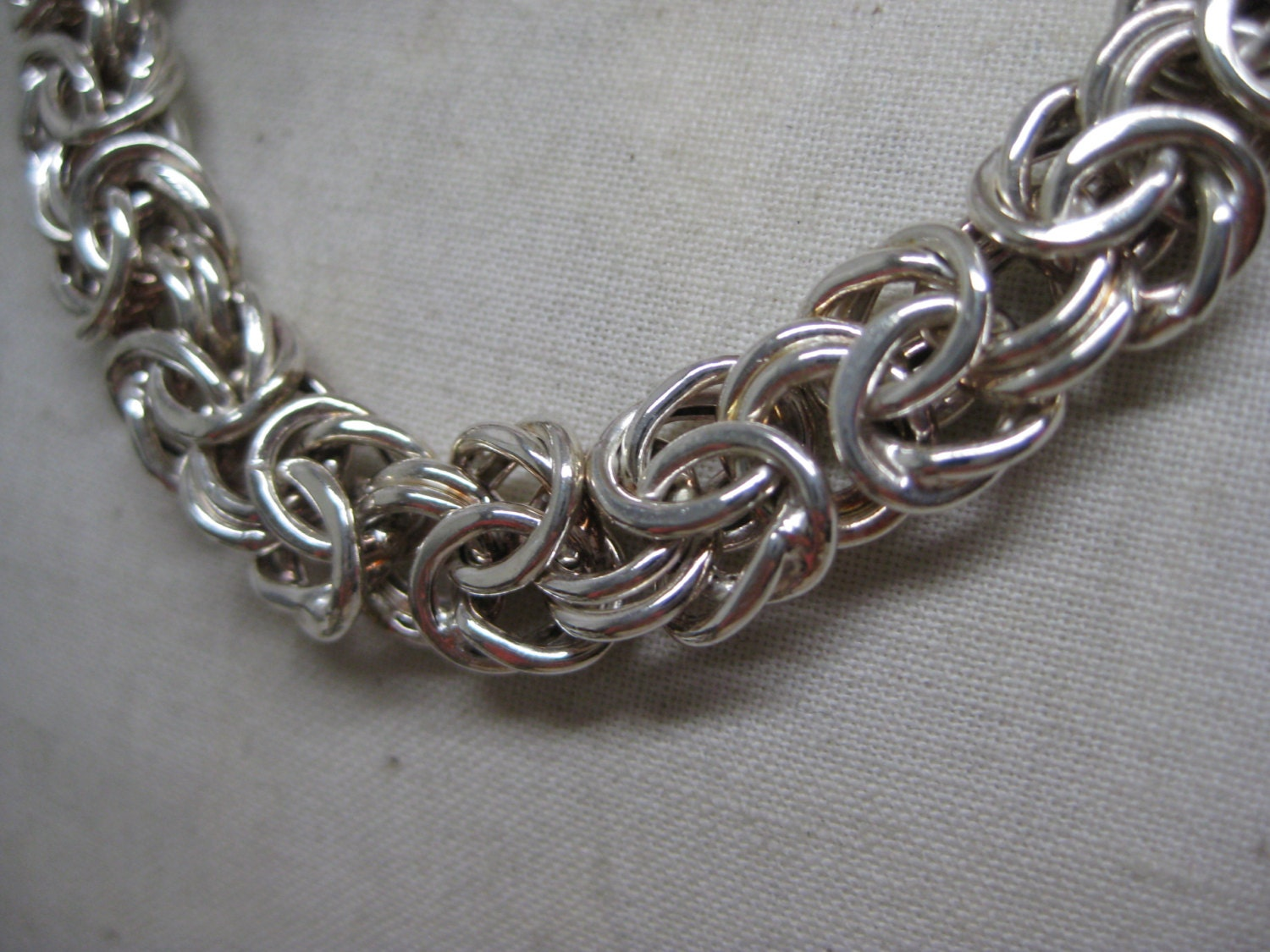 sterling chain necklace vintage 925 milor silver italy
