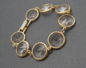 Wide Rhinestone Bracelet Rivoli Stone Jewelry X20