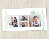Elephant Parade 10x20 Storyboard | Photoshop Templates for Photographers | Elephant-Themed Design | ES8012a | Instant Download
