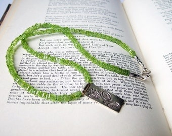 Spring Greens - Peridot and Silver Necklace.